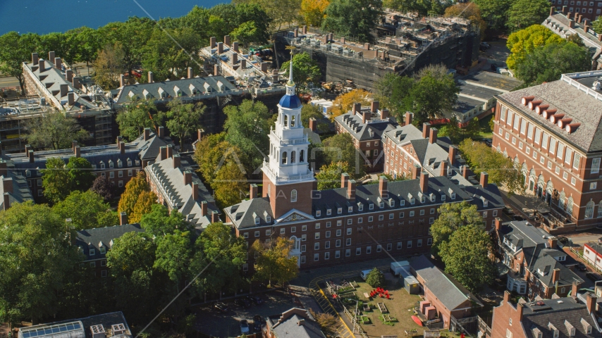 Harvard University's Lowell House in Cambridge, Massachusetts Aerial Stock Photo AX142_085.0000296 | Axiom Images