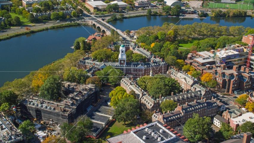 Harvard University's Eliot House in Cambridge, Massachusetts Aerial Stock Photo AX142_099.0000297 | Axiom Images