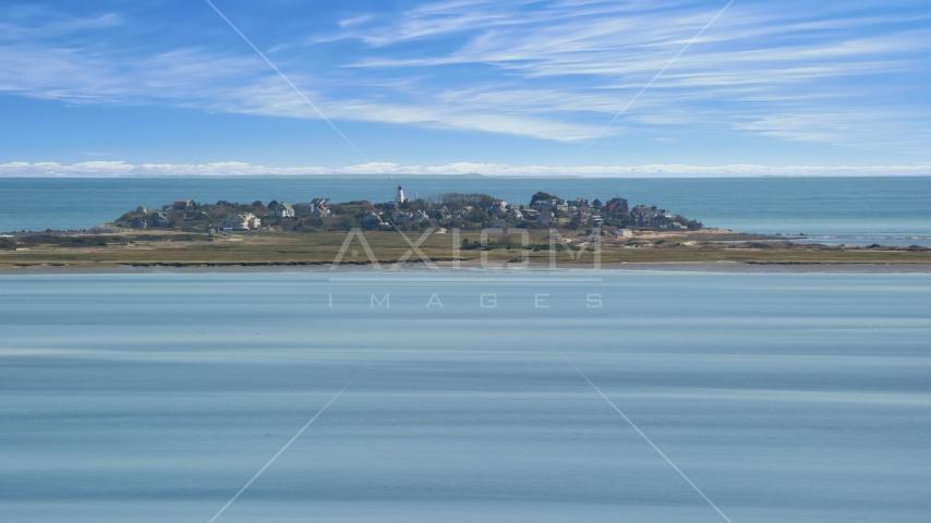 Plymouth Light and coastal community of Duxbury, Massachusetts Aerial Stock Photos | AX143_082.0000210