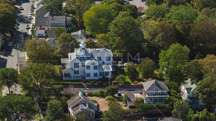 A large home in a small town, Plymouth, Massachusetts Aerial Stock Photos | AX143_097.0000076
