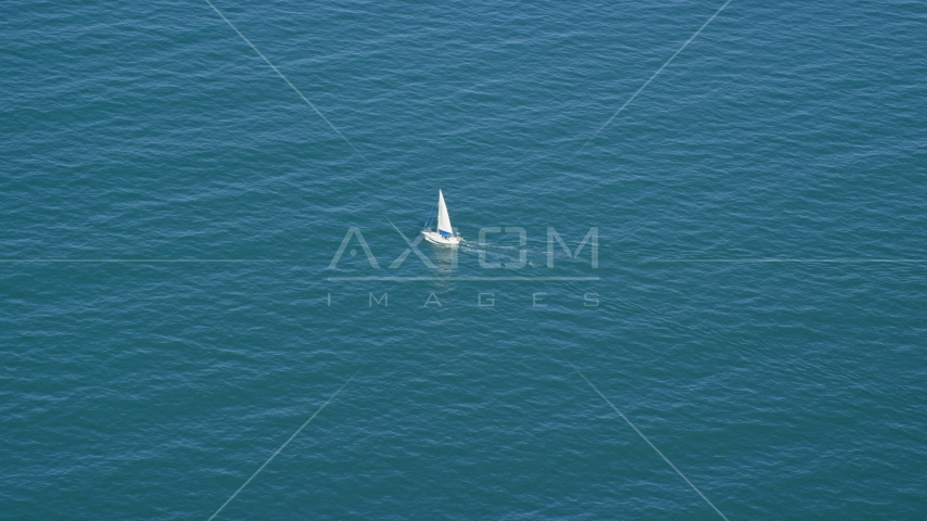 A boat sailing on Cape Cod Bay, Massachusetts Aerial Stock Photos | AX143_126.0000181