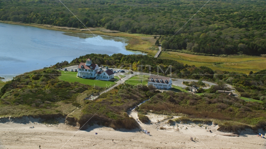 Coast Guard Beach, Cape Cod, Eastham, Massachusetts Aerial Stock Photos | AX144_033.0000000