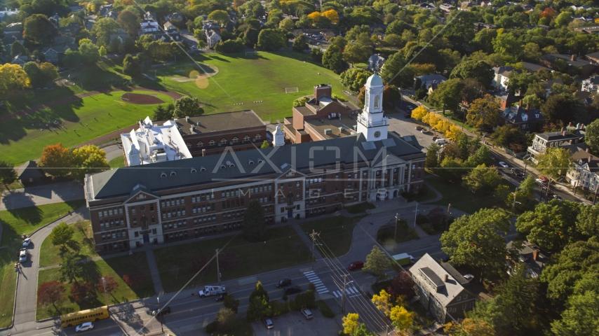 Hope High School in Providence, Rhode Island Aerial Stock Photos | AX145_067.0000174