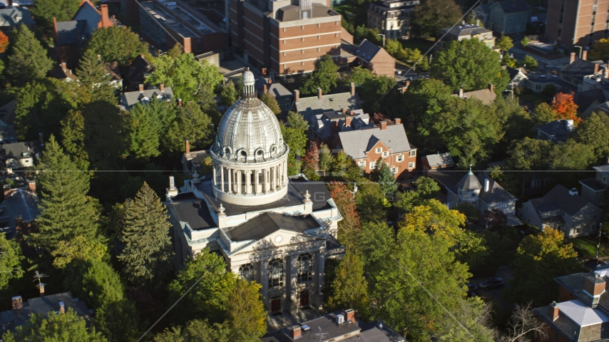 The dome of the First Church of Christ Scientist, Providence, Rhode Island Aerial Stock Photos | AX145_068.0000194