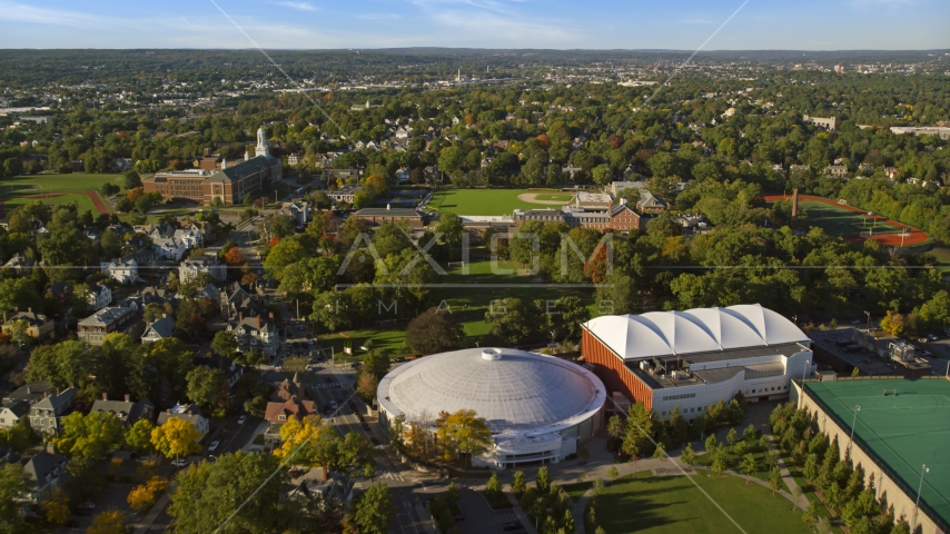 Brown University and the Pizzitola Sports Center in Providence, Rhode Island Aerial Stock Photos   AX145_073.0000000