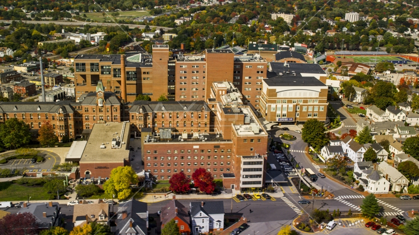 The Maine Medical Center building in autumn, Portland, Maine Aerial Stock Photos | AX147_353.0000223
