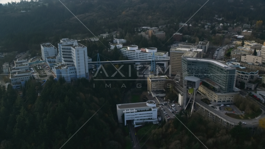 Oregon Health and Science University complex in Portland, Oregon Aerial Stock Photos | AX153_120.0000247F