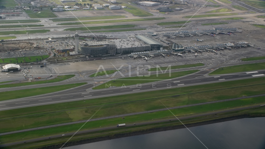 Portland International Airport in Oregon Aerial Stock Photos | AX153_137.0000162F