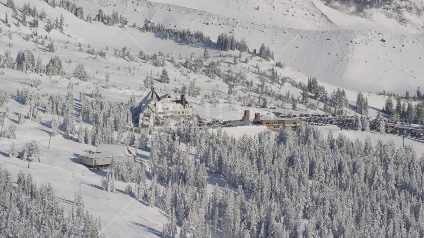 Timberline Ski Resort on Mount Hood, Oregon Aerial Stock Photos AX154_088.0000015F