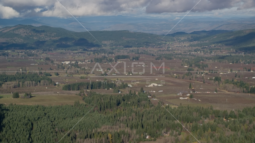 Farms and farmland in Parkdale, Oregon Aerial Stock Photos | AX154_136.0000000F