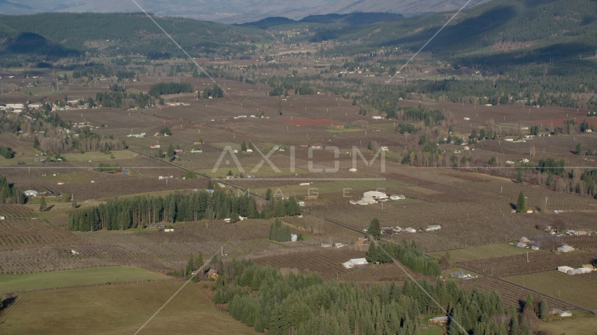 Small farms and farmland in Parkdale, Oregon Aerial Stock Photos | AX154_136.0000388F