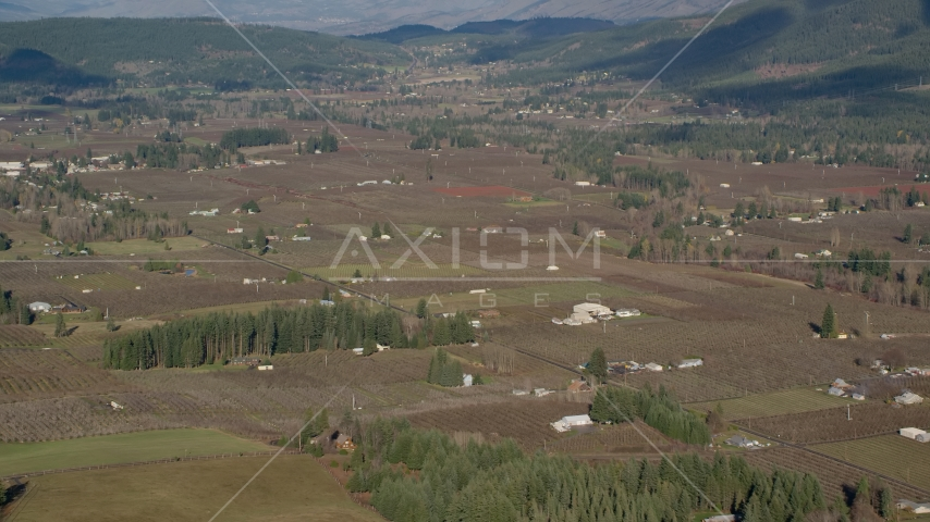 Farms and farm fields in Parkdale, Oregon Aerial Stock Photos | AX154_137.0000000F