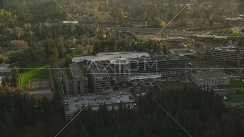 Providence St Vincent Medical Center in Southwest Portland, Oregon Aerial Stock Photos | AX155_121.0000200F