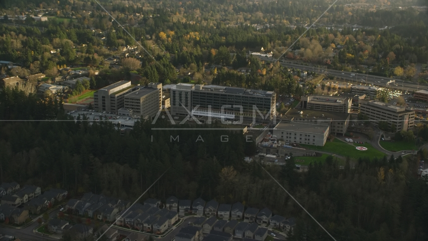The Providence St Vincent Medical Center in Southwest Portland, Oregon Aerial Stock Photos | AX155_122.0000155F