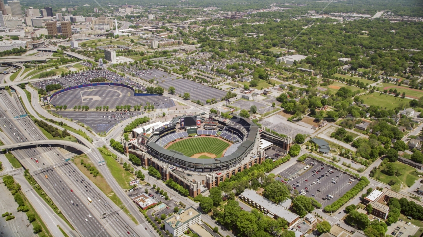 Turner Field in Atlanta, Georgia Aerial Stock Photos | AX36_001.0000016F
