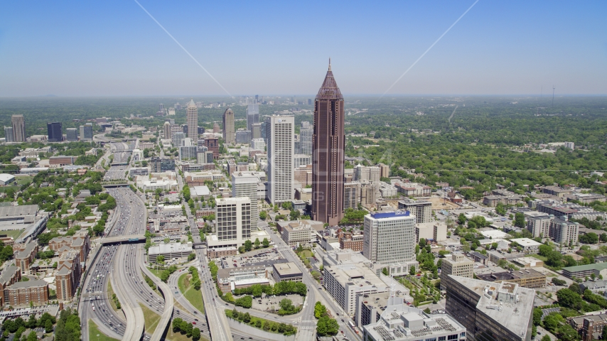 Bank of America Plaza, office buildings, Downtown Connector, Midtown Atlanta, Georgia Aerial Stock Photos | AX36_007.0000187F