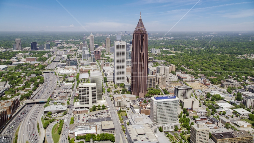 Bank of America Plaza, Midtown Atlanta, Georgia Aerial Stock Photos | AX36_008.0000053F