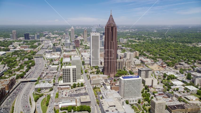 Bank of America Plaza, Midtown Atlanta, Georgia Aerial Stock Photos AX36_008.0000053F | Axiom Images