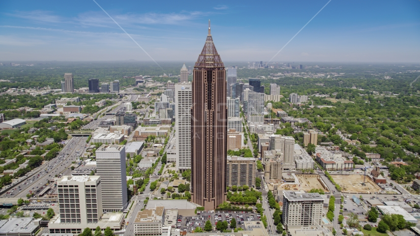 Bank of America Plaza, Midtown Atlanta, Georgia Aerial Stock Photos | AX36_008.0000215F