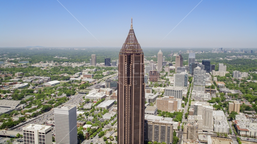 Bank of America Plaza, Midtown Atlanta Aerial Stock Photos AX36_009.0000007F | Axiom Images