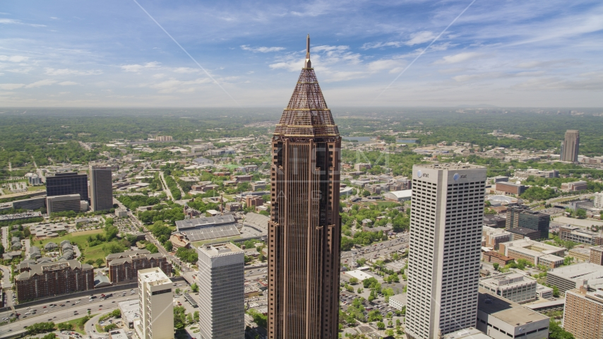 Bank of America Plaza, Midtown Atlanta, Georgia Aerial Stock Photos | AX36_009.0000217F
