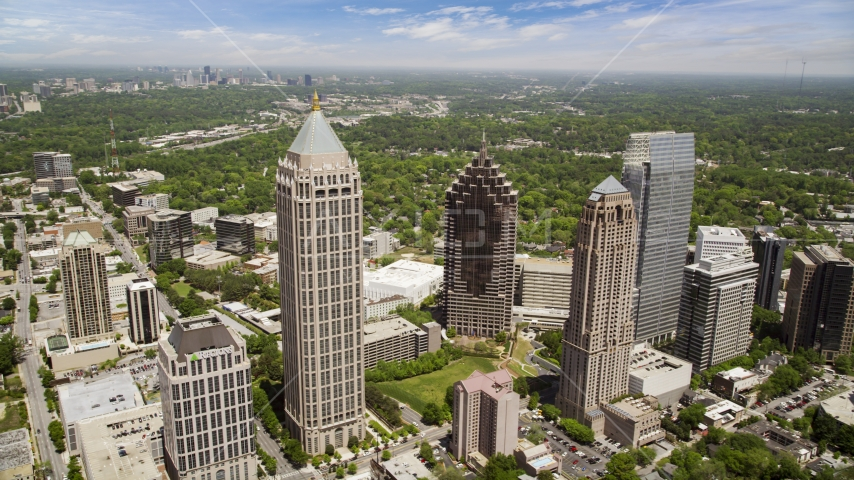 Midtown skyscrapers, Atlanta, Georgia Aerial Stock Photos | AX36_012.0000388F