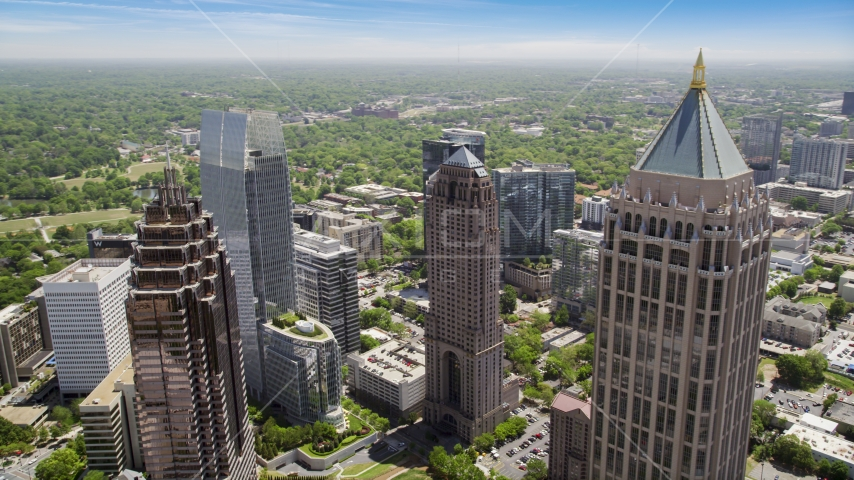 Skyscrapers, Midtown Atlanta, Georgia Aerial Stock Photos | AX36_013.0000463F