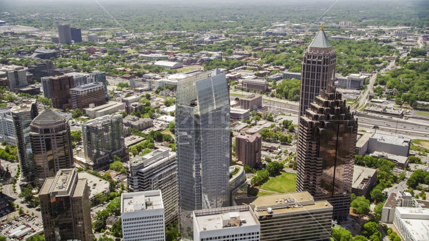Midtown skyscrapers including the GLG Grand, Atlanta, Georgia  Aerial Stock Photos | AX36_015.0000221F