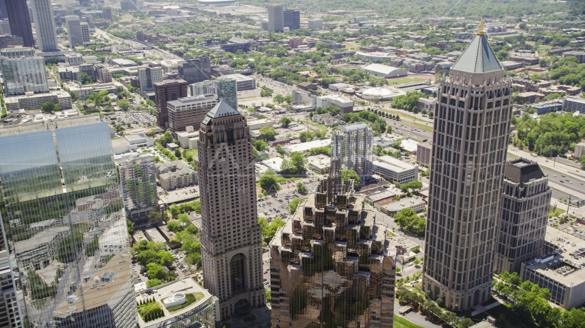 Midtown skyscrapers, Atlanta, Georgia Aerial Stock Photos | AX36_016.0000023F