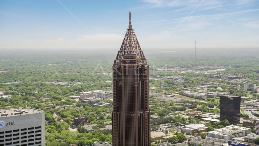 Top of Bank of America Plaza, Midtown Atlanta, Georgia Aerial Stock Photos | AX36_020.0000144F