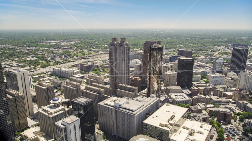 Skyscrapers and office buildings, Downtown Atlanta, Georgia Aerial Stock Photos | AX36_023.0000054F
