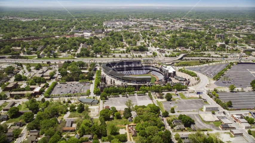 Major League Baseball Stadium, Atlanta, Georgia Aerial Stock Photo AX36_029.0000121F   Axiom Images