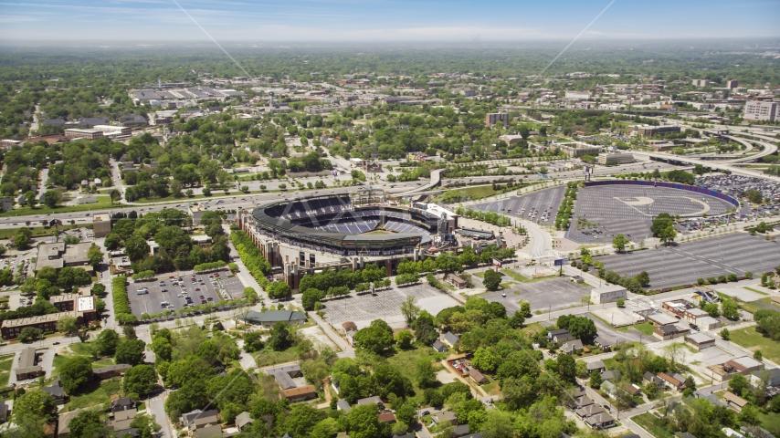 Turner Field, a Major League Baseball Stadium, in Atlanta, Georgia Aerial Stock Photo AX36_029.0000237F | Axiom Images