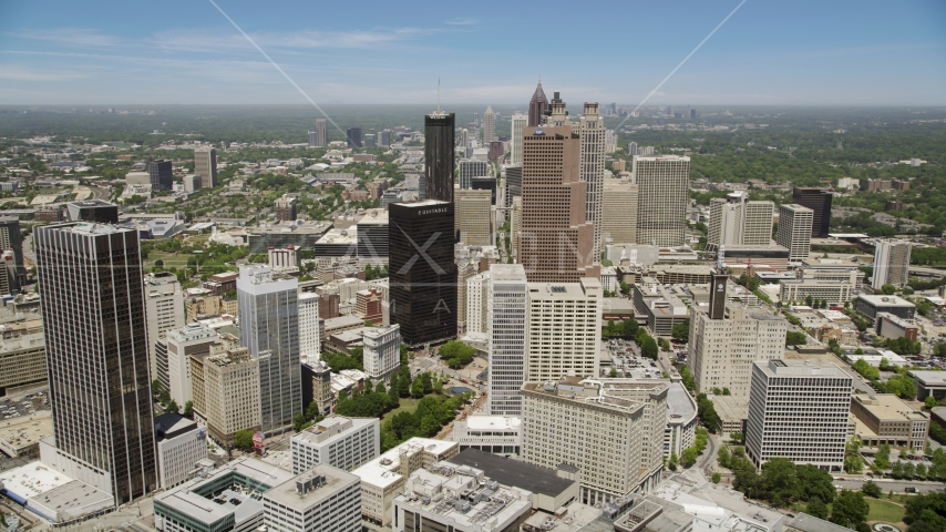 Georgia-Pacific Tower, Equitable Plaza, Downtown Atlanta, Georgia  Aerial Stock Photos | AX36_037.0000148F