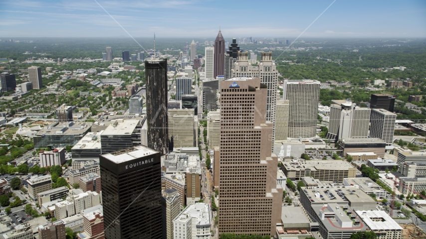 Skyscrapers in Downtown Atlanta, Georgia Aerial Stock Photos | AX36_038.0000188F