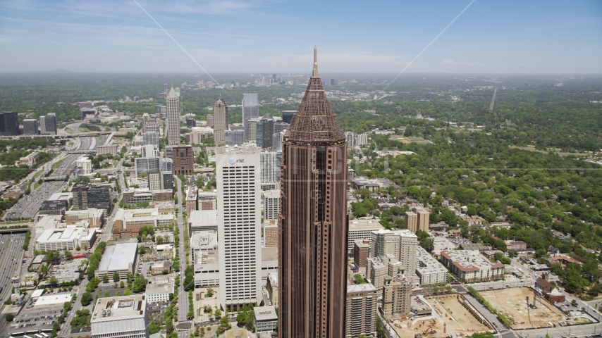 Bank of America Plaza and AT&T Building, Midtown Atlanta, Georgia  Aerial Stock Photos | AX36_041.0000249F