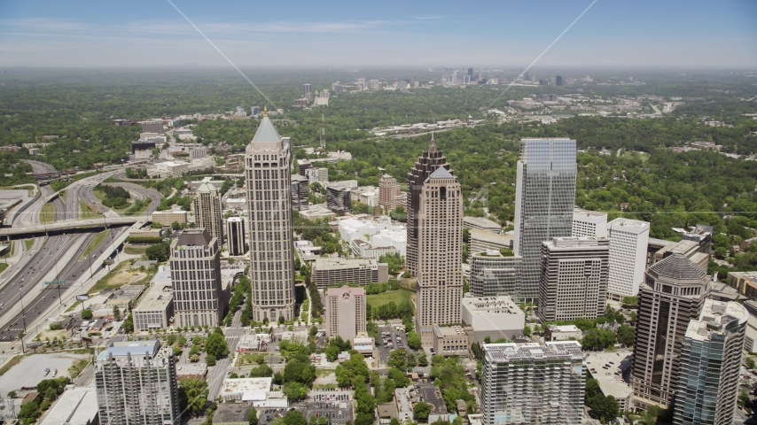 GLG Grand and One Atlantic Center, Midtown Atlanta Aerial Stock Photos | AX36_043.0000070F