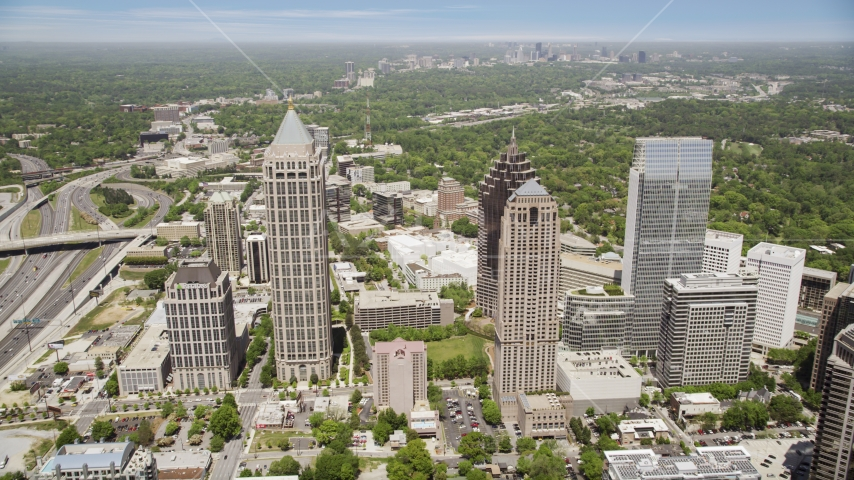 Skyscrapers and One Atlantic Center, Midtown Atlanta, Georgia Aerial Stock Photos | AX36_043.0000161F
