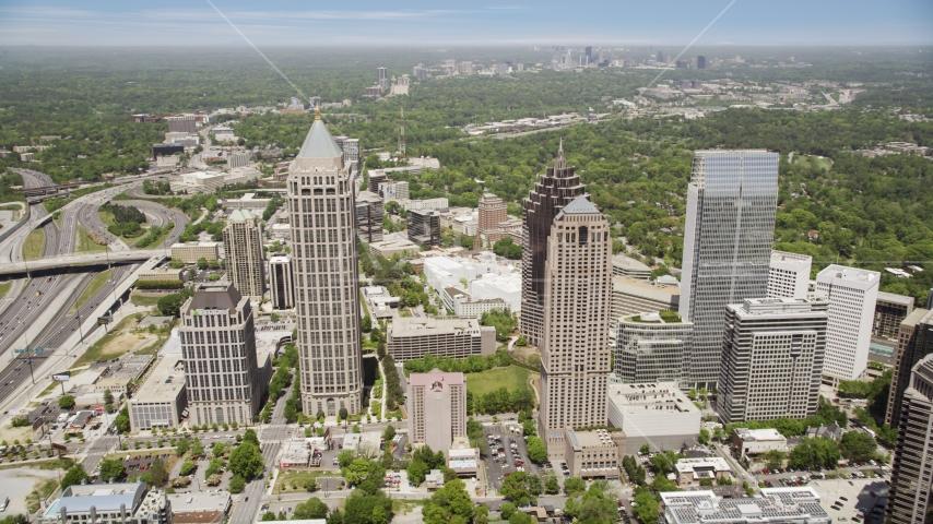 Skyscrapers and One Atlantic Center, Midtown Atlanta, Georgia Aerial Stock Photo AX36_043.0000161F | Axiom Images
