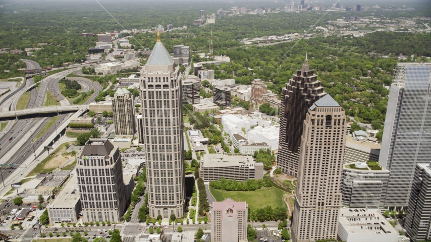 GLG Grand and One Atlantic Center, Midtown Atlanta, Georgia Aerial Stock Photos | AX36_043.0000282F