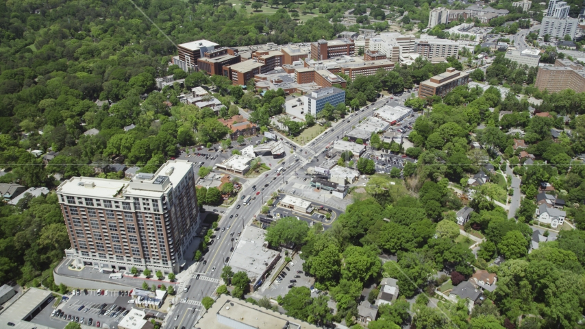 Peachtree Road near Piedmont Hospital, Buckhead, Georgia Aerial Stock Photo AX36_047.0000173F | Axiom Images
