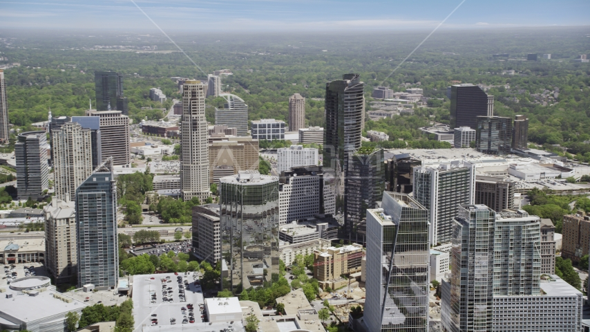 Buckhead skyscrapers, 3344 Peachtree, Atlanta, Georgia Aerial Stock Photos | AX36_057.0000118F