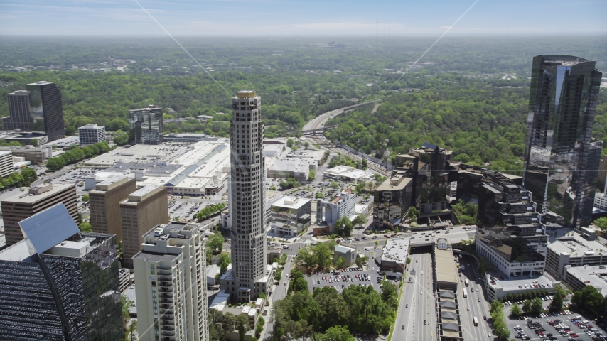 The Mansion and 3344 Peachtree, Buckhead, Georgia Aerial Stock Photo AX36_060.0000189F | Axiom Images