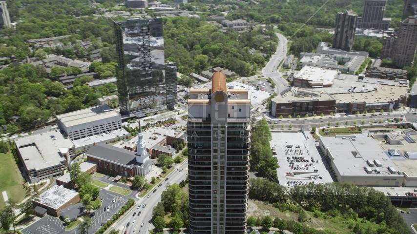 Park Avenue Condominiums, Buckhead, Georgia Aerial Stock Photo AX36_062.0000076F | Axiom Images
