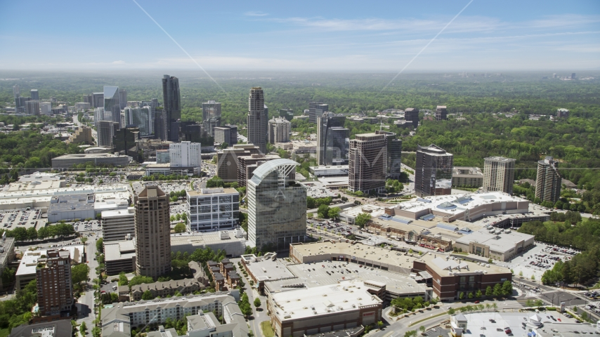Skyscrapers and office buildings, Buckhead, Georgia Aerial Stock Photo AX36_063.0000264F | Axiom Images