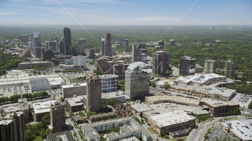 Office buildings and skyscrapers, Buckhead, Georgia Aerial Stock Photo AX36_064.0000049F | Axiom Images
