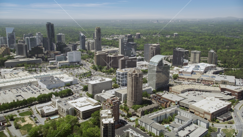 Office buildings and skyscrapers, Buckhead, Georgia Aerial Stock Photos | AX36_064.0000199F