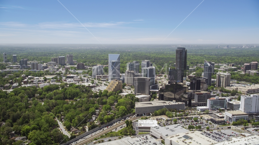 Skyscrapers and high-rises, Buckhead, Georgia Aerial Stock Photos | AX36_065.0000063F