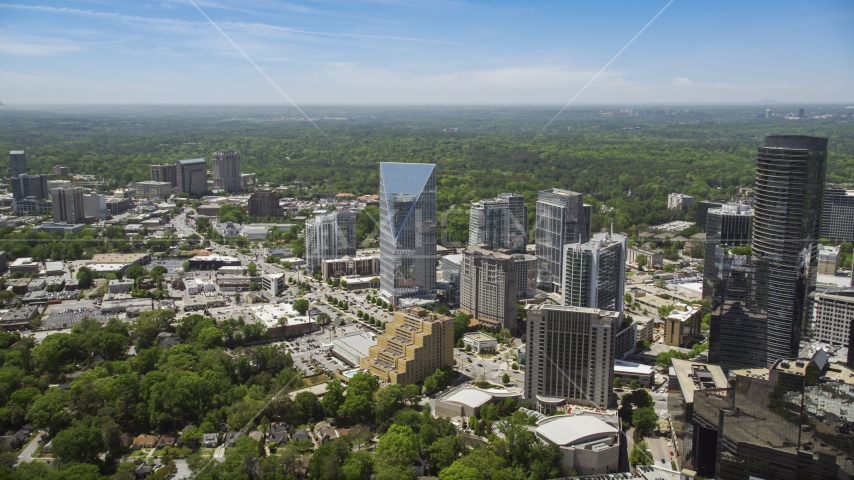 Terminus Atlanta, high-rises and office buildings, Buckhead, Georgia Aerial Stock Photos | AX36_066.0000090F