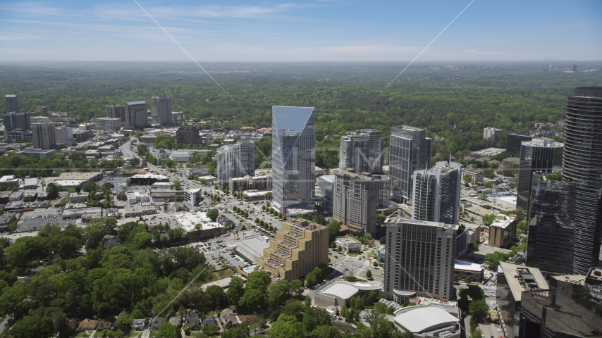 Terminus Atlanta, office buildings and high-rises, Buckhead, Georgia Aerial Stock Photo AX36_066.0000132F | Axiom Images